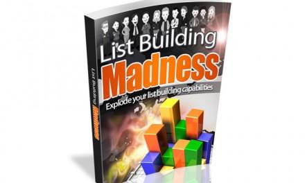 List Building Madness Ebook