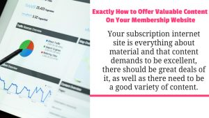 Valuable Content On Your Membership Website